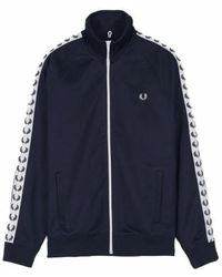 Fred Perry Taped Tracked Jacket Sweater - Blauw
