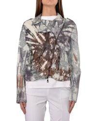 Giorgio Brato Nail Leather Jacket Blanco