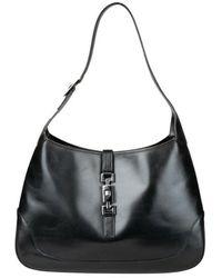 Gucci Tweedehands Grote Jackie Hobo Bag - Zwart