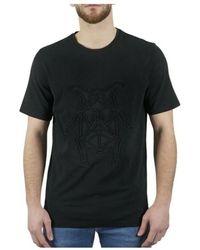 Corneliani Tee-shirt manches courtes a motifs - Negro