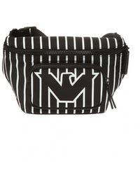 Emporio Armani Branded Belt Bag - Zwart