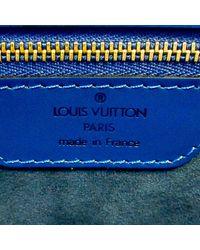 Louis Vuitton Epi Saint Jacques GM Correa de cuero larga Azul