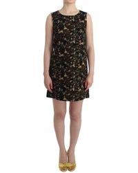 Dolce & Gabbana Camouflage Mini Shift Dress - Groen