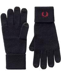 Fred Perry Gebreide Handschoenen - Blauw