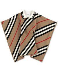 Burberry Icon Stripe Knit Merino Wool - Naturel