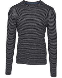 Blend Striped shirt /zwart - Schwarz