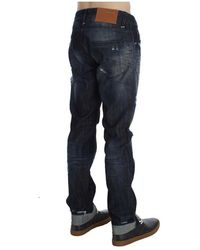 Save The Duck Cotton Regular Straight Fit Jeans Azul
