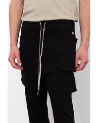 Rick Owens - Cargo Drawstring Pant Negro - Lyst