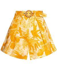 Zimmermann Patterned Shorts - Geel