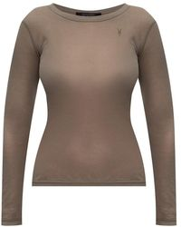 AllSaints Francesco long-sleeved top - Marrone