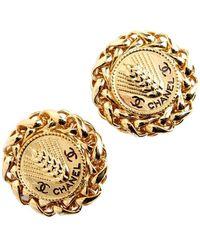 Chanel Vintage Earrings - Marron