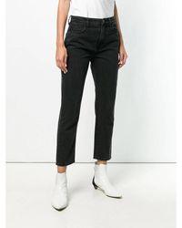 Current/Elliott The Vintage Cropped Slim Jeans Negro