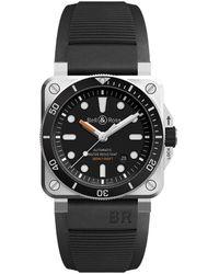 Bell & Ross Br0392-d-bl-st_srb Watch - Zwart