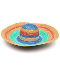 Missoni Striped Straw Hat - Blu