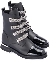 Baldinini Ankle boot with applications - Schwarz