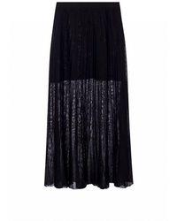 Sonia Rykiel Skirt With Pleats - Zwart