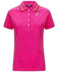 K-Way Polo Stretch - Roze