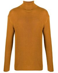 Lemaire Fine roll neck sweater - Marrón