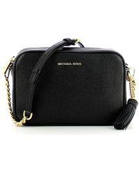 Michael Kors Ginny Gold Shoulder Bag - Zwart