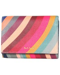 Paul Smith Small Leather Wallet - Rood