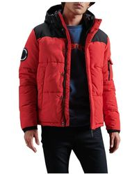 Superdry Cazadora Quilted Everest - Rosso