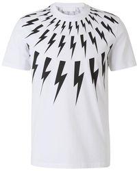 Neil Barrett Lightning Bolts T-shirt - Weiß