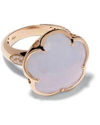 Pasquale Bruni - 18kt rose gold diamond Bon Ton ring - Lyst