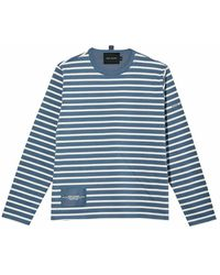 Marc Jacobs Striped T-shirt - Blauw