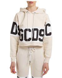 Gcds Sweatshirt hood hoodie - Neutro