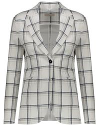 Circolo 1901 Single-breasted Checked Jacket - Wit