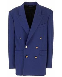 Balenciaga 643401tjt214140 Wool Blazer - Blauw