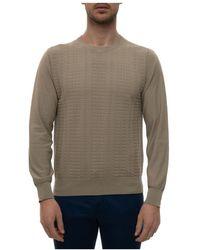 Canali Round-necked Pullover - Naturel