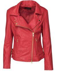 Onstage Biker Leather Jacket - Rood