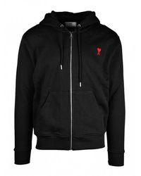 AMI Zipped Sweatshirt - Zwart