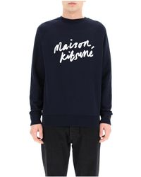 Maison Kitsuné - Sweatshirt With Logo Print - Lyst