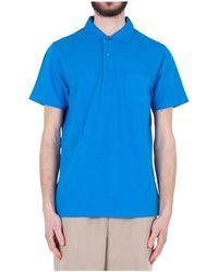 Sun68 Polo Cold Dye Shirt Collar - Blauw