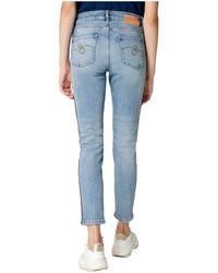 ESCADA Side Stripe Skinny Jeans Azul