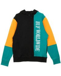 Huf Piet Lightweight Hooded Sweatshirt - Zwart