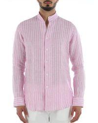 Bagutta Camicia Collo Coreano/Diplomatico - Pink