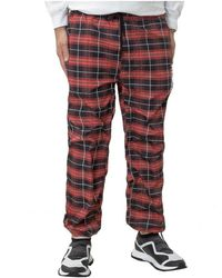 Pleasures Trousers With Logo - Rood