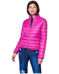 Silvian Heach Downjacket With Zip - Roze