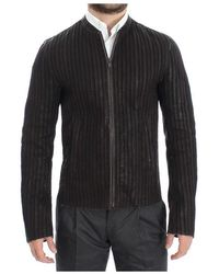 Dolce & Gabbana Leather Jacket Biker Coat - Bruin