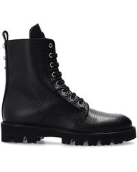 Philipp Plein Leather ankle boots - Nero