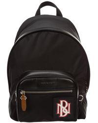 Neil Barrett Men's Nylon Rucksack Backpack Travel - Zwart