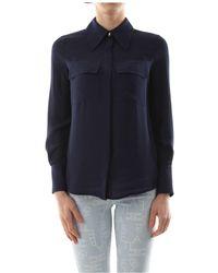 Elisabetta Franchi - Ca27201E2 Shirt Women Blu navy - Lyst