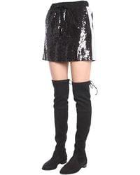 Alberta Ferretti Sequin Skirt Negro