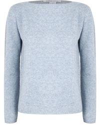 Agnona O-neck Sweater - Blauw