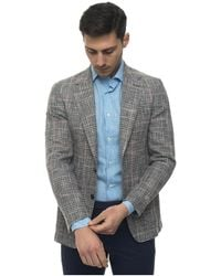 Canali Jacket with 2 buttons - Gris