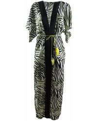 4giveness Abito Kimono Lungo - Zwart
