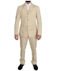 Romeo Gigli Two Piece 3 Button Solid Suit - Natur